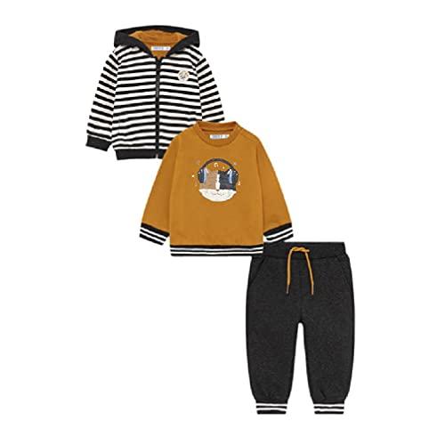 Mayoral Baby Jungen Sportanzug Sweatjacke, Sweatshirt & Hose, Größe:92, Farbe:Ocker