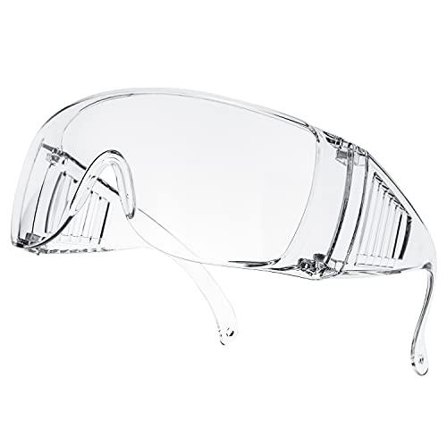保護メガネ ゴーグル 一眼型 防曇 安全ゴーグル 保護用アイゴーグル 防塵ゴーグル 眼鏡着用可 軽量 透明 男女兼用 (MJPHM-2)