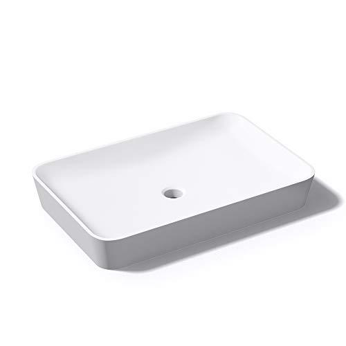 Mai & Mai 60x40x9 cm Waschbecken Colossum815 weiß matt inkl. Standard DIN-Anschlüsse