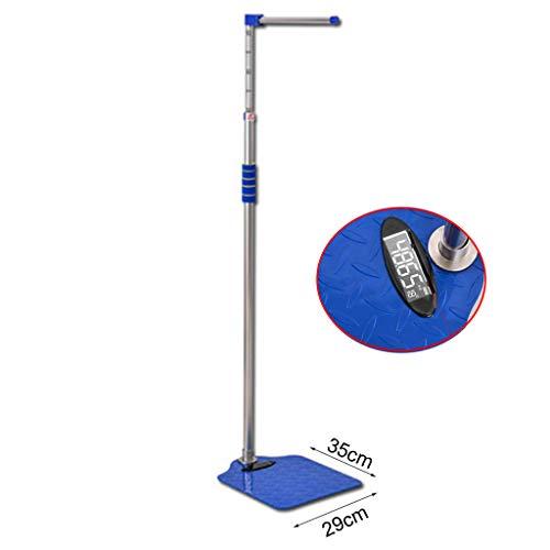 XYL Bilancia Digitale di precisione, bilance per Altezza e Peso, Display LED HD, Asta di misurazione dell'altezza (100-190 cm)