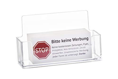 Geen reclame sticker in het wit - bord - folie - sticker (Stop Gelieve geen gratis krant, reclame, folder, reclame inwerpen) voor de brievenbus