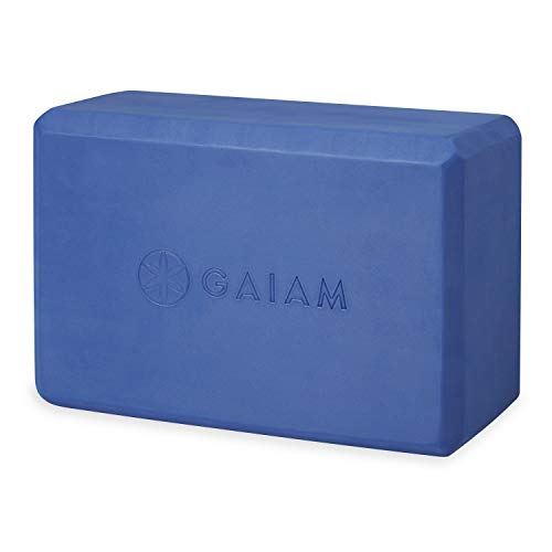 Gaiam Yoga Block - Supportive Latex-Free EVA Foam Soft Non-Slip Surface for Yoga, Pilates, Meditation (Altitude)