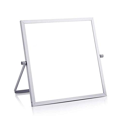 NAIXUE Stand-type Foldable Mini Whiteboard,Small Magnetic White Board for Desk 10'X10' Double-Sided Desktop Tabletop Dr Y Era Se Board with Stand for Students Kids Home Office,Magnetic White Board
