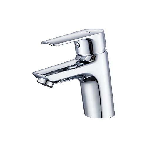 WINDALY Wasserhahn Bad, Waschtischarmatur Mischbatterie Waschbecken, Armatur Einhandmischer Badarmatur, waschbeckenarmatur mit Verchromt für Badezimmer