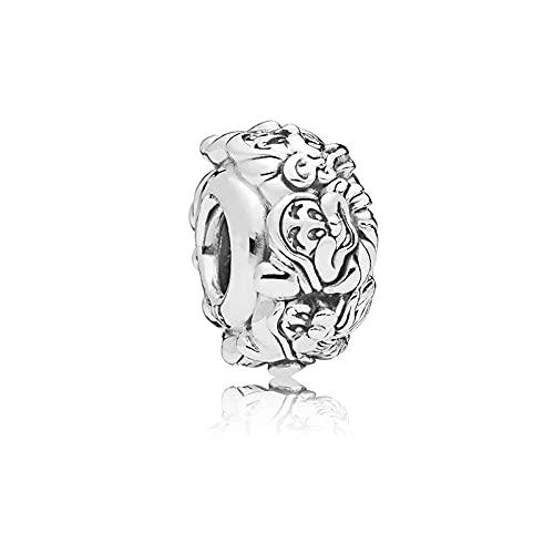 LIIHVYI Pandora Charms para Mujeres Cuentas Plata De Ley 925 Fashion The Seven Dwarfs All Around Spacer Jewelry Compatible con Pulseras Europeos Collars