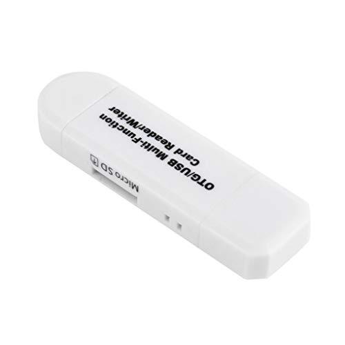 Bodbii Tarjeta SD OTG cámara del teléfono móvil Lector de Tarjetas TF a Micro USB USB 2 en 1 Adaptador de Alta Velocidad plástico ABS