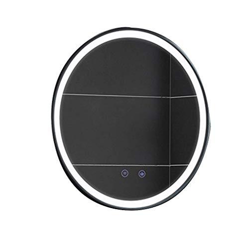 LLG Household Items& Miroir lumineux mur, salle de bains Miroir rond LED Miroir salle de bains No-cadre for une chambre et salle de séjour (Couleur: B, Taille: 70CMx70CM)