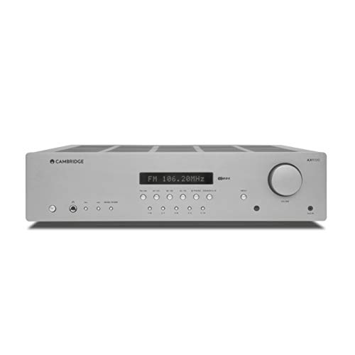 Cambridge Audio AXR100 100-Watt Stereo Receiver with Bluetooth   Built-in Phono Stage, 3.5mm Input, AM/FM with RDS