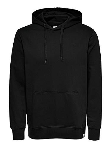 ONLY & SONS Herren ONSLUIGI LIFE REG HOODIE SWEAT NOOS Pullover, Black, XL