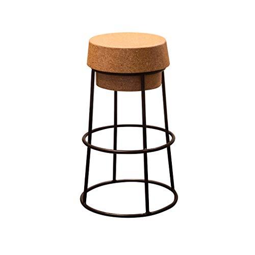 LLYU Creatieve barkruk home bar kruk loft smeedijzeren bar balie stoel moderne minimalistische hoge kruk