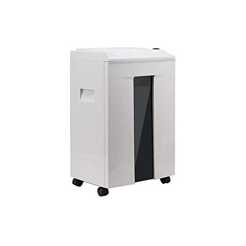 MYXMY Elektro-Office-Silent-Haus 40 Minuten High Power Aktenvernichter, CD und Kreditkarte Shredder mit 6 Schreddern Kapazität, Weiß (350x255x550mm)