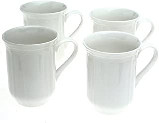 Mikasa Antique White Coffee Mugs, Set of 4