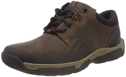 Clarks Walbeck Edge II, Zapatos de Cordones Derby para Hombre, Marrón (Brown Leather), 44 EU