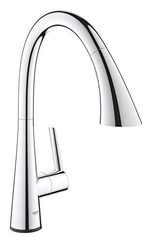 Grohe Zedra Touch - grifo de cocina con tecnología touch, caño en C y triple spray (30219002)