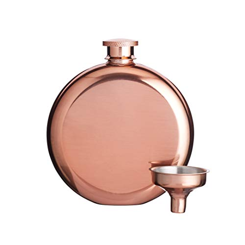 Bar Craft Cubitera de lujo Mini, Petaca con embudo de decantación de cobre, 140ml