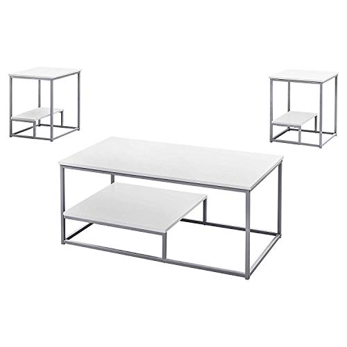 Monarch Specialties TABLE SET One Size WHITE