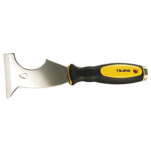 Tajima Schaber Scrape-Rite Multi-Tool (Multifunktions Schaber zum Entfernen von Nägel + Stiften, Klinge 75 mm, mit Schlagplatte, rutschfester Griff) SCR-M75