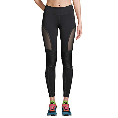 Zumba Dance Workout for Women Fashionable Leggings with Breathable Mesh Panels, Negrita a, M para Mujer
