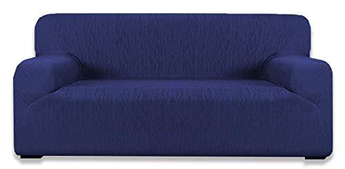 tex family COPRIDIVANO Elasticizzato Vienna Universale Blu (1 Posto cm. 70-100)