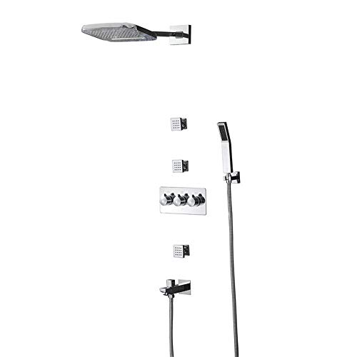 Amazing Deal Nuanxingjiafang Full Copper Shower Support 200250 Two-Function Waterfall Top Spray Five...