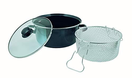 Cordon Green - Juego de sartenes de 5 litros para freír con tapa y cesta