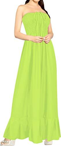 LA LEELA miękki sztuczny sztuczny sztuczny jedwab 2 w 1 kobiety duży rozmiar sukienka na imprezę koktajlową bez ramiączek bez ramiączek na szyi krótka spódnica z halą Maxi dopasowana flare plaża bikini okrycie krótka sukienka do salonu jasnozielona d