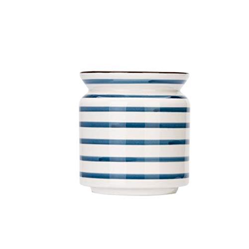 PrittUHU Pintado Cerámica Almacenamiento Jar Caramelo Snack Jar Silicone Sello Tea Caddy Pequeños contenedores con Tapa Tanque de Almacenamiento para el hogar (Color : A)