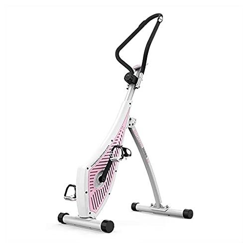 Bicicleta De Fitness Giratoria Con Pantalla LCD Para El Hogar, Nivel De Resistencia Múltiple Ajustable Máquina De Escalada Plegable Ejercicio Interno Silencioso ( Color : Pink , Size : 115*58*140cm )