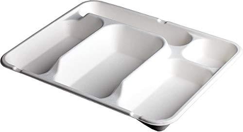 50 Plateaux Repas - 5 Compartiments - 29 x 23 x 30 cm