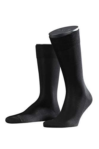 FALKE Herren Sensitive Malaga M SO Socken, Blickdicht, Schwarz (Black 3000), 43-46