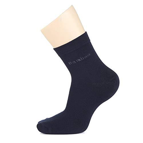 WZHHXXG Heren Bamboe sokken New Casual Business antibacteriële deodorant ademende Crew sokken 39-44