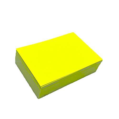 150 Beschriftungsetiketten in Neon-Gelb I 10 x 7 cm groß I Neon-Etiketten aus Papier zum Beschriften I universal I dv_839