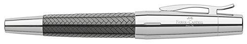 Faber-Castell 148240 - Füllfederhalter e-motion Edelharz Parkett,Feder: M, inklusive Geschenkverpackung, Schaftfarbe: schwarz / silber