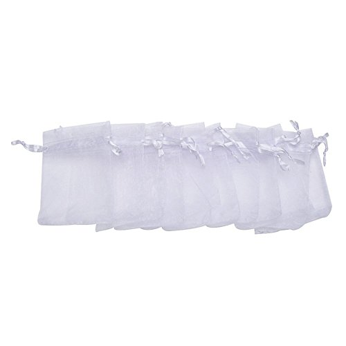 Kentop 100 Pieces Organza Gift Bags for Wedding Party Favors and Jewellery Wrapping, 7 x 9 cm