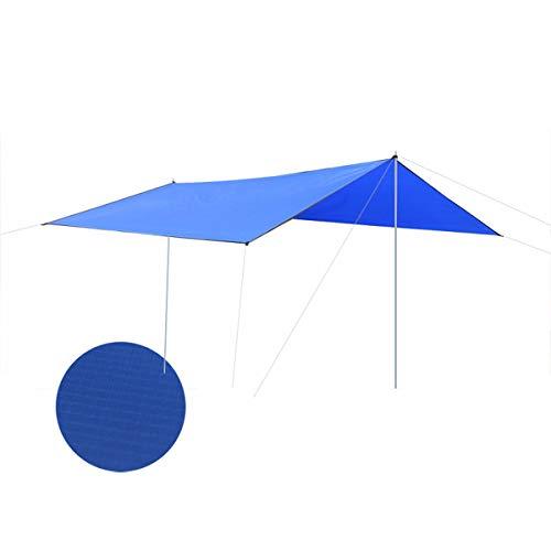 SOONHUA Carpa de Lona Carpa Impermeable para Acampar Refugio Sol en La Playa Al Aire Libre Lluvia Mosca Estera Picnic Sombrilla Supervivencia Parasol Adecuada 5-8 Personas