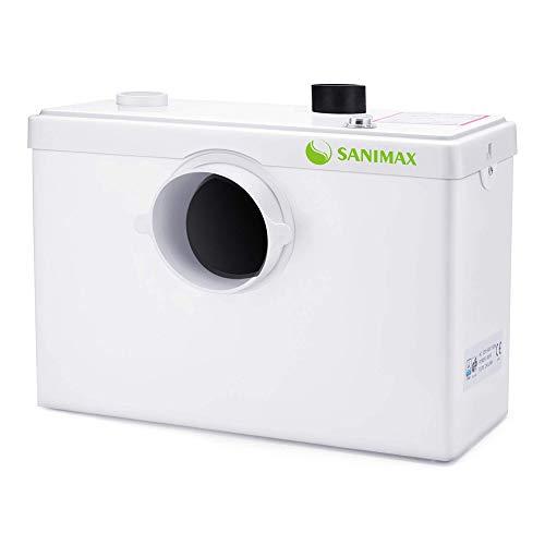 Sanimax SANI600 Broyeur Sanitaire, Pompe Automatique pour Eliminer les Eaux Usées, Silencieuse,3/1 entrées pour WC lavabo 600W