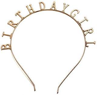 "Elehere Birthday Girl Tiara Headband Headpiece Girls Party Hair Accessories, 0.6"" 0.3"" Letters"