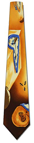 Cravatta extra lunga con cravatta da uomo Salvador Dali Warping Time
