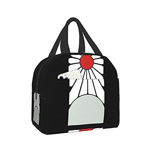 Nezuko Kamado Tanjiro Rising Sun Earring Lunch Bag Boys & Girls & Women Waterproof Ice Pack Reusable Lunch Meal Bag
