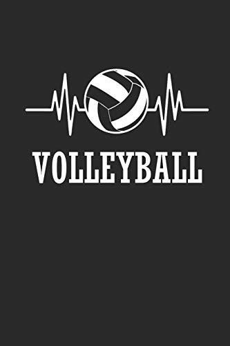 VOLLEYBALL: Notizbuch für Volleyball Spieler Notebook Journal 6x9 karo kariert squared