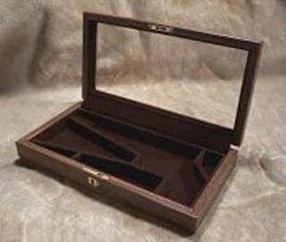 Amazon com : Glass Top Walnut Display Case for Colt Army or