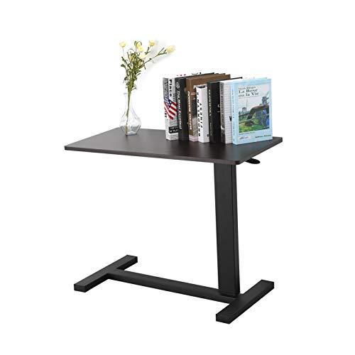 MorNon Ajustable Mesa de Ordenador Portatil con Ruedas con Tapa de Plástico para Quienes Están Confinados a la Cama y se Puede Usar en El Hogar