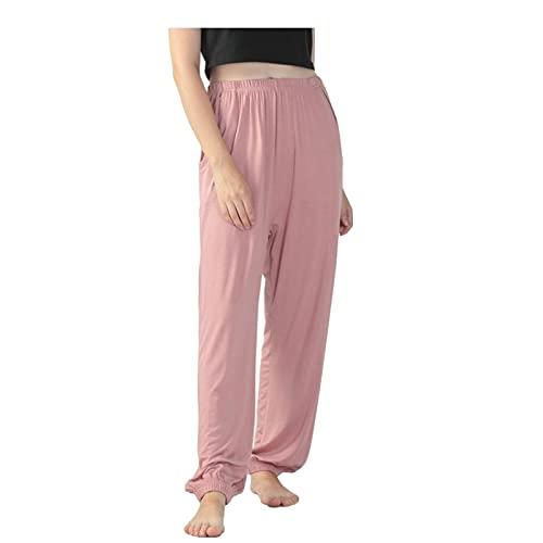 MLOPPTE Pijama,Pantalones de Mujer Pantalones Pijamas Pantalones de Talla Grande Primavera Otoño Pantalones cómodos Pantalo