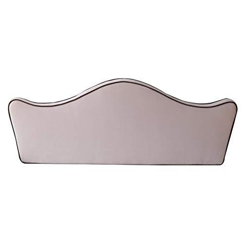 KKCF-Cojín para cabecero, funda suave, diseño de corona de dibujos animados, lavable de fibra superfina de larga duración, para embellecer la esponja de alta densidad, rosa claro, 180x62x8cm