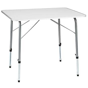 TecTake Table de Camping Pliable réglable en Hauteur (LxlxH): env. 80 x 60 x 68 cm