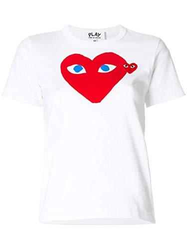 Comme des Garçons Luxury Fashion Play Damen P1T085WHITE Weiss Baumwolle T-Shirt | Frühling Sommer 20