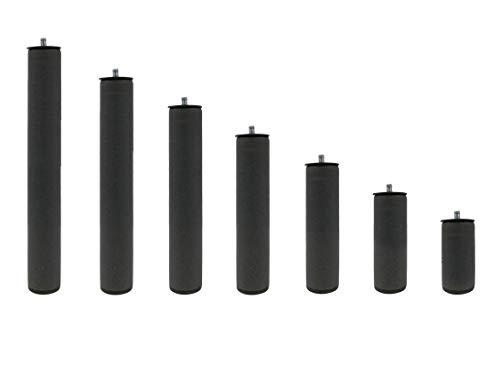 KAMA HAUS Juego de Patas metalicas Redondas de 35 cm | para Base tapizada o somier | Pack de 4 Unidades | Incluye pletina de plastico | Patas con Rosca de 0,5 cm.
