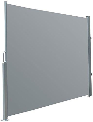 Preisvergleich Produktbild Royal Gardineer Sichtschutz: Seitenmarkise 180 x 300 cm,  für Garten,  Balkon und Terrasse,  anthrazit (Vertikalmarkise Windschutz)