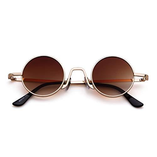 ADEWU Occhiali da sole ovali Occhiali stile vintage da strada con orlo sottile in metallo da uomo donna