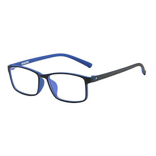 MU CHAOHAI Blauw licht Blokkerende Bril Lichtgewicht Retro TR90 bril Met zwart Montuur Filter Blue Ray Computerspelbril